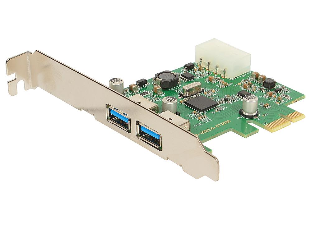 Контроллер ORIENT NC-3U2PE, PCI-E USB 3.0 2ext port, NEC D720200 chipset, разъем доп.питания, oem 100% new qg82945gm bga chipset