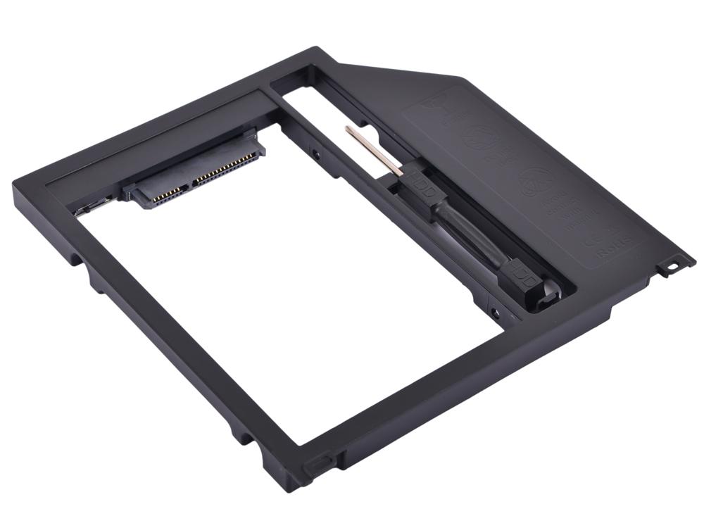 "Адаптер оптибей Espada SА95 (optibay, hdd caddy) SATA/miniSATA (SlimSATA) 9,5мм для подключения HDD/SSD 2,5"" к ноутбуку Apple вместо DVD flash hdd плееры"