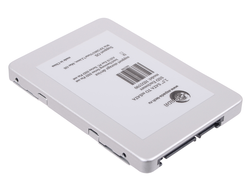 Переходники SSD Espada ES-008 (HD2590), 2,5 SATA to mSATA SSD Enclosure внешний контейнер для hdd msata espada ss90