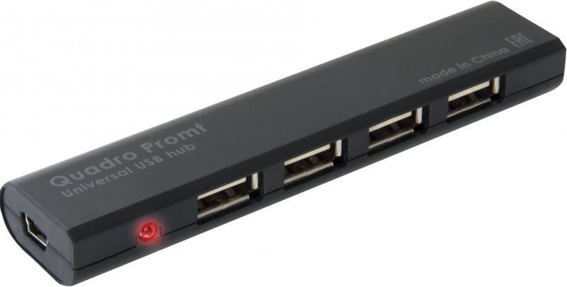 Концентратор USB Defender Quadro Promt (83200) USB 2.0, 4 порта все цены