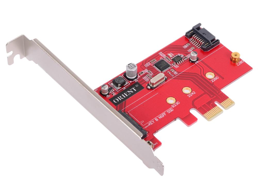 Контроллер ORIENT A1061S-M2, PCI-E v2.0 SATA 3.0 6 Gb/s, 2int port: M.2(NGFF)+SATA, поддержка HDD до 6TB, ASM1061 chipset, oem 100% new qg82945gm bga chipset