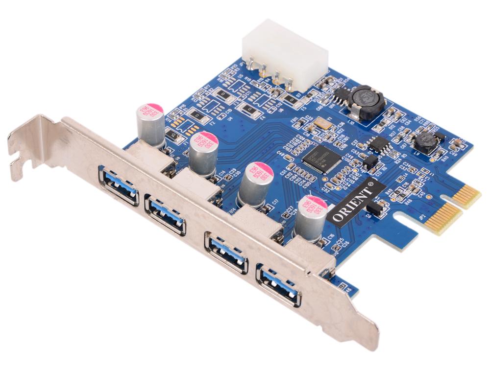 Контроллер ORIENT NC-3U4PE, PCI-E USB 3.0 4ext port, NEC D720201 chipset, разъем доп.питания, oem 5piece 100% new bq24728hrgrr bq728h qfn 20 chipset