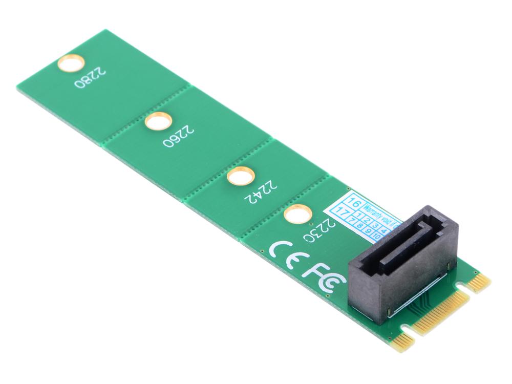 Переходник SSD NGFF(M.2) - SATA, для подключения SATA диска к разъему NGF, ORIENT C292S переходник питания для pci ex видеокарт 2 x sata 15pin m 6pin orient c513