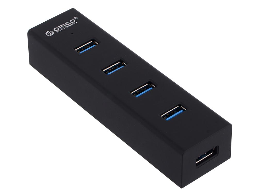 Концентратор USB Orico H4013-U3 (черный) USB 3.0 x 4, возможность подключения дополнительного питания usb концентратор orico lha u3 черный