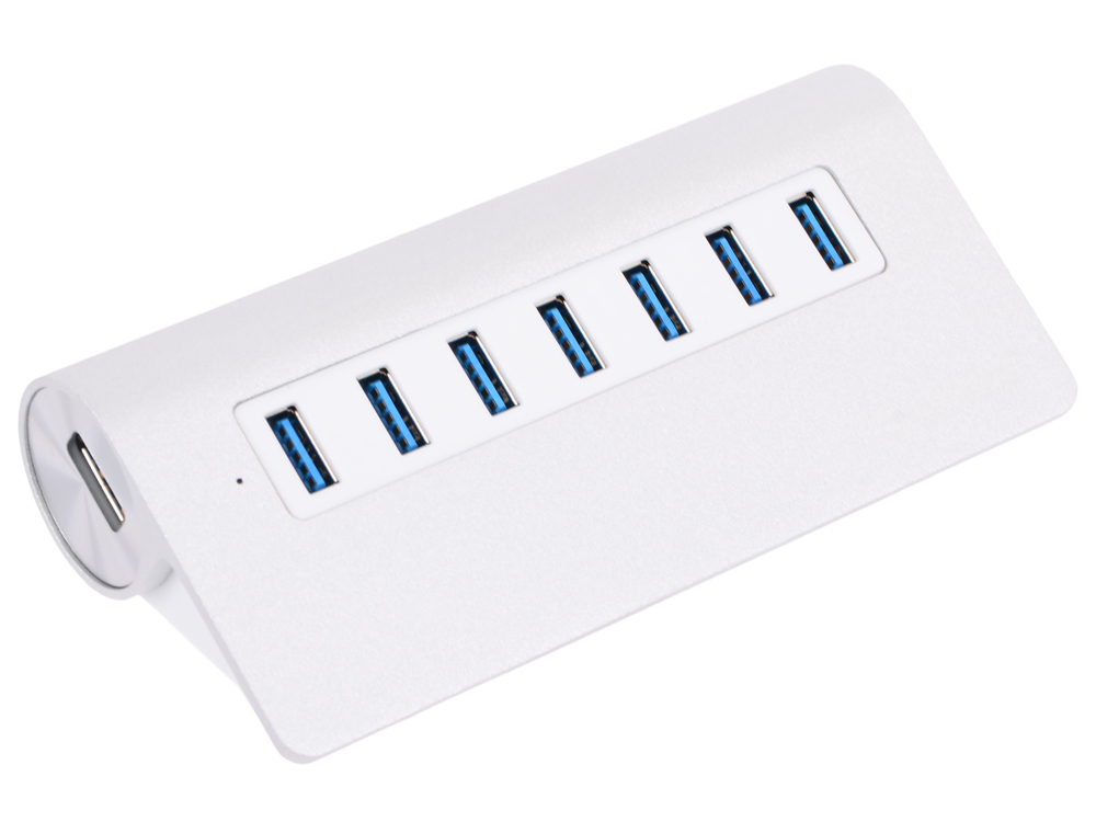 Концентратор USB Orico M3H7 (серебристый) USB 3.0 x 7, адаптер питания адаптер питания digitech istomppwrsply