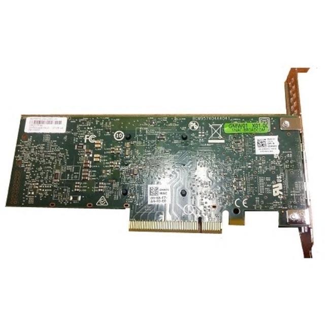 цена на Сетевая карта Dell Dual port Broadcom 57416 10Gbit Base-T PCIe FP for 14G (540-BBUO)