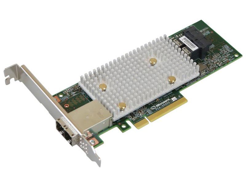Контроллер RAID Microsemi Adaptec SmartRAID 3154-8i8e Single, 8 internal port, 8 external ports, PCIe Gen3 ,x8 microsemi adaptec smartraid 3154 8i single 8 internal port pcie gen3 x8 4 gb ddr4 raid 0 1 10 raid 5 6 50 60 flexconfig maxcache 4 0