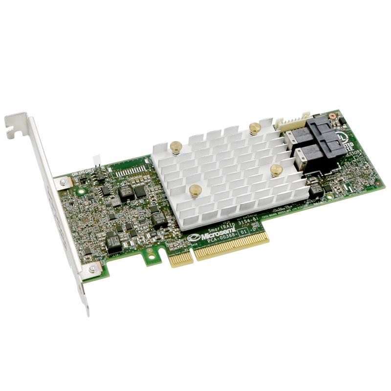 RAID-контроллер Microsemi Adaptec SmartRAID 3154-8i Single,8 internal port,PCIe Gen3 ,x8,4 GB DDR4,RAID 0/1/10,RAID
