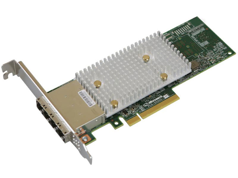 лучшая цена HBA-адаптер Microsemi Adaptec HBA 1100-16e Single, 16 external ports, PCIe Gen3,x8, FlexConfig