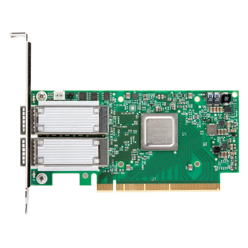 Сетевая карта ConnectX-5 Ex VPI adapter card EDR IB (100Gb/s) and 100GbE, dual-port QSFP28, PCIe4.0 x16