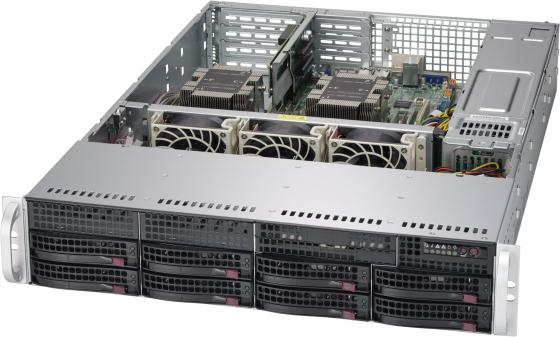 Серверная платформа Supermicro SYS-6029P-WTR, 2U, 2xLGA3647, 12xDDR4 ECC, up 8x3.5, SATA 6Gbps via C621, 2x1GbE, 2x1000W, Rack Rails, Backplane 8xSATA sata to sata 3 0 6gbps adapter cable blue 50cm
