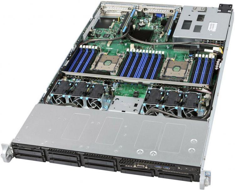 Сервер (Barebone) Intel Server System R1208WFTYS C624, LGA3647, 24xDDR4 RDIMM, 8x2.5 HotSwap,2x10GLan, 1x1100W сервер intel original r1208wt2gsr 2xe5 2630v4 8x150gb 2 5