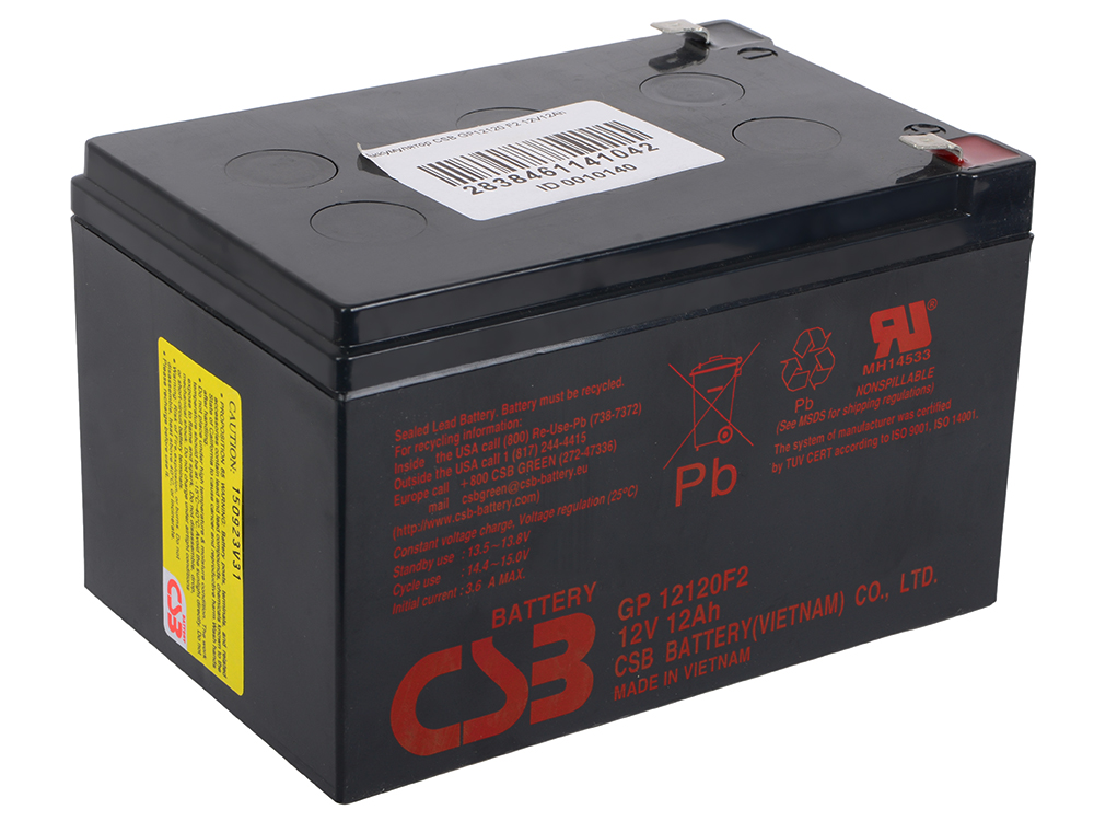Аккумулятор CSB GP12120 F2 12V12Ah цена