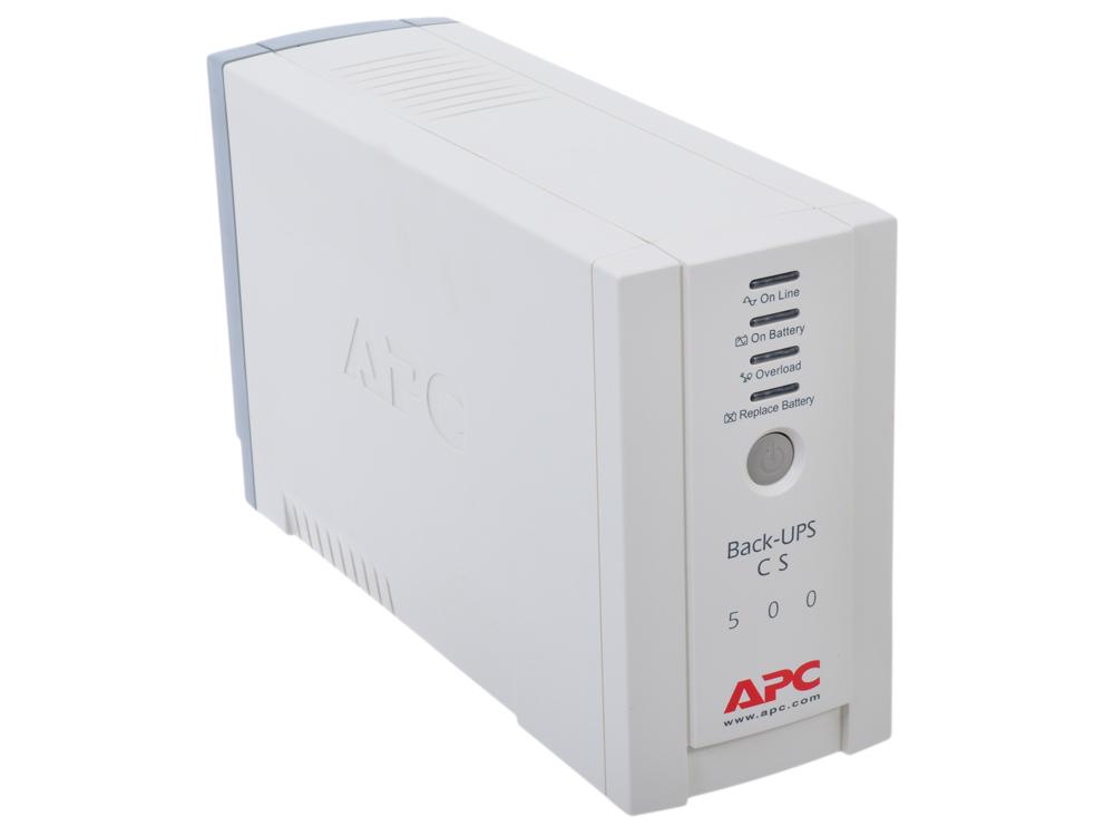 ИБП APC BK500EI Back-UPS CS 500VA/300W ибп apc back ups bk350ei