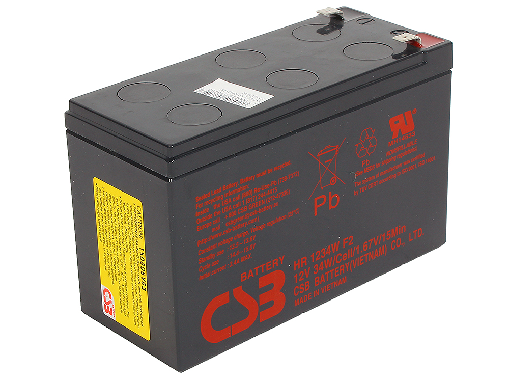 Аккумулятор CSB HR1234W F2 12V9Ah цена