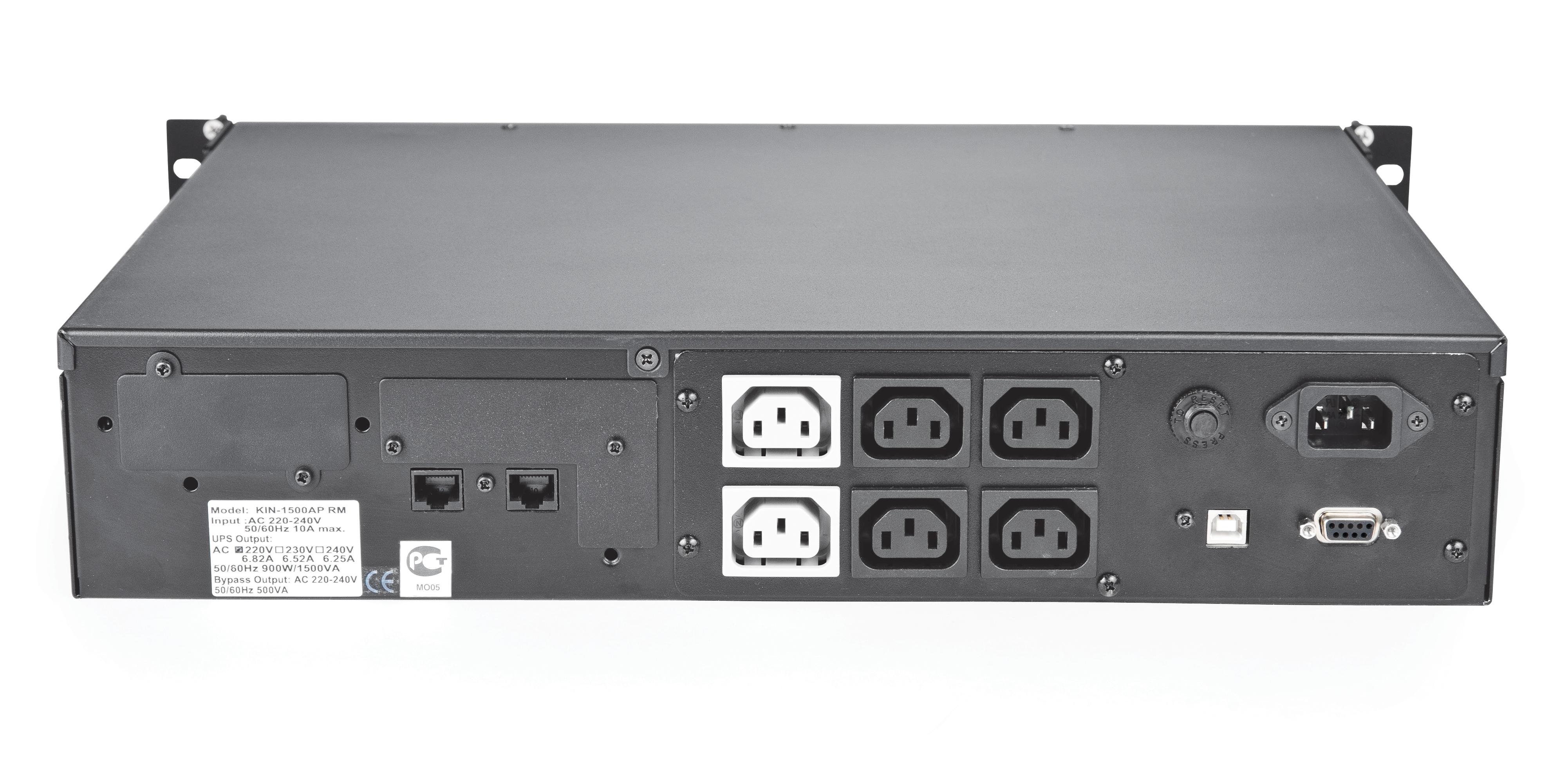 ИБП Powercom KIN-1200AP RM 1200VA/720W 2U,USB,RS-232 (4+2 IEC)* ибп powercom kin 1200ap rm2u 1200va черный
