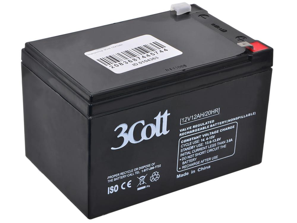 Аккумулятор для ИБП 3Cott 12V12Ah аккумулятор 3cott 12v5 0ah