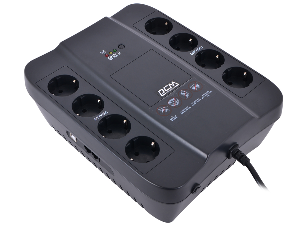 SPD-850U ибп powercom spd 850u spider 850va 510w usb avr rj11 rj45 4 4 euro output