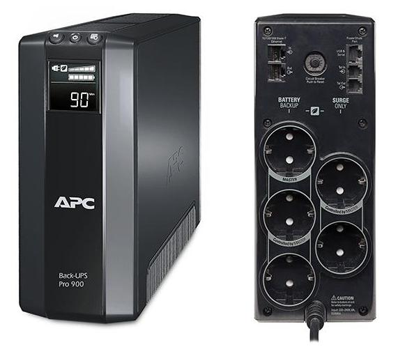 ИБП APC BR900G-RS Back-UPS Pro 900VA/540W ибп apc by schneider electric back ups 1100va bx1100ci rs