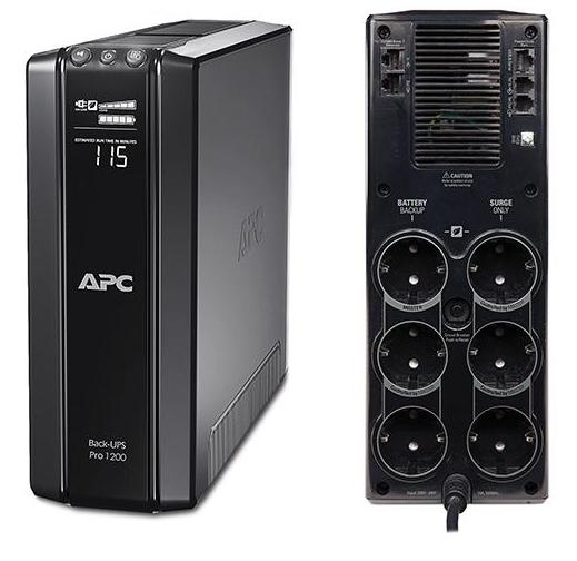 ИБП APC BR1200G-RS Back-UPS Pro 1200VA/720W ибп apc by schneider electric back ups 1100va bx1100ci rs