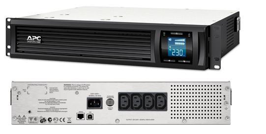 ИБП APC SMC1000I-2U Smart-UPS 1000VA/600W ибп apc smart ups c smc2000i 2u 2000va черный 1300 watts входной 230v выход 230v interface port u