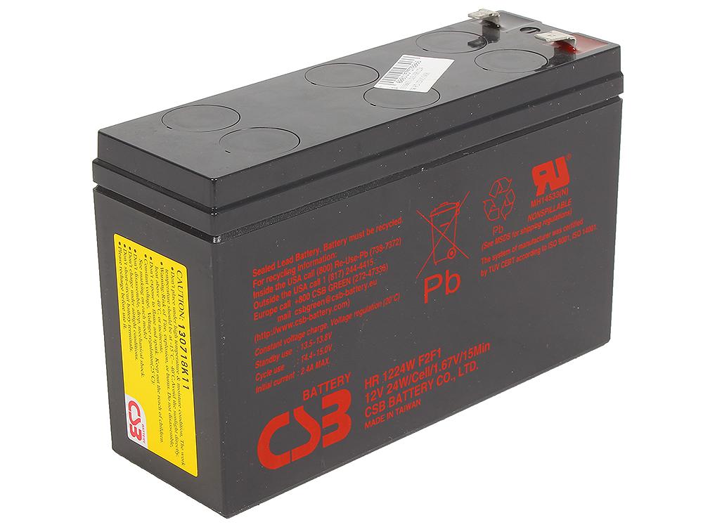 Аккумулятор CSB HR1224 W F2/F1 12V5.5AH цена