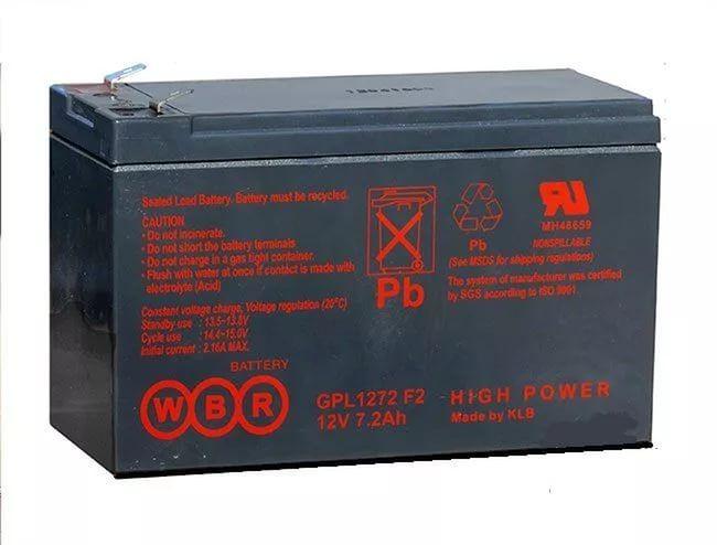 цена на Батарея WBR GPL 1272 12V/7.2AH увеличенный срок службы до 10 лет