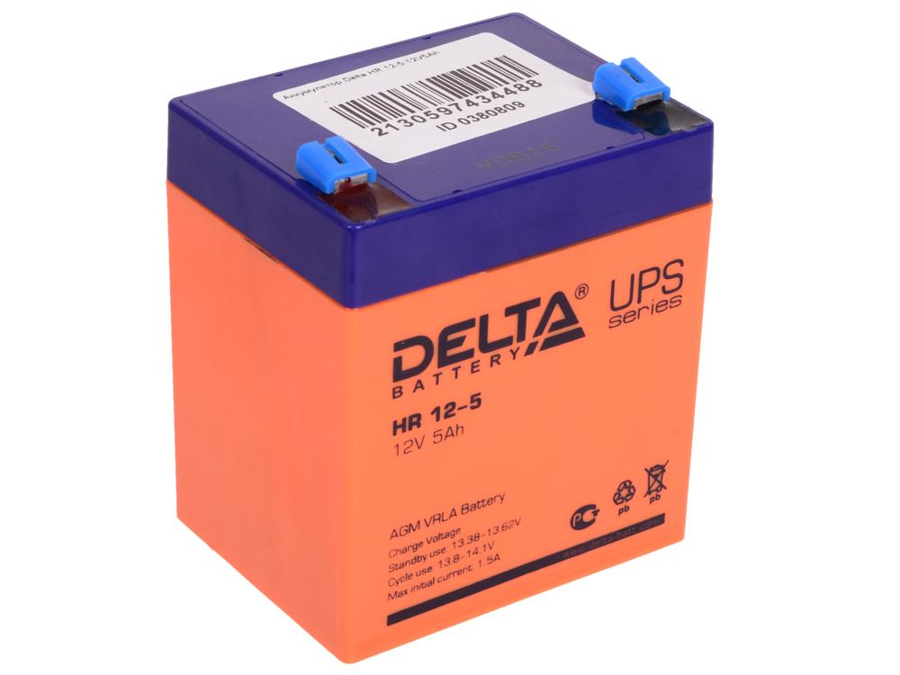 Фото - HR 12-5 батарея delta hr 12 5 5ач 12b