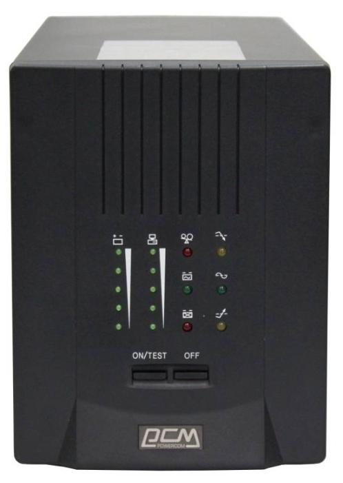 ИБП Powercom Smart King Pro+ SPT-1000 700Вт 1000ВА черный ибп powercom king pro kin 1200ap rm2u