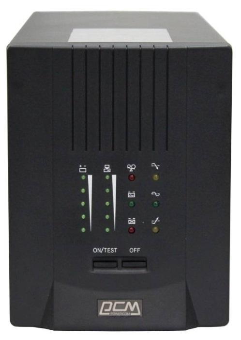 ИБП Powercom Smart King Pro+ SPT-3000 2100Вт 3000ВА черный ибп powercom king pro kin 1200ap rm2u
