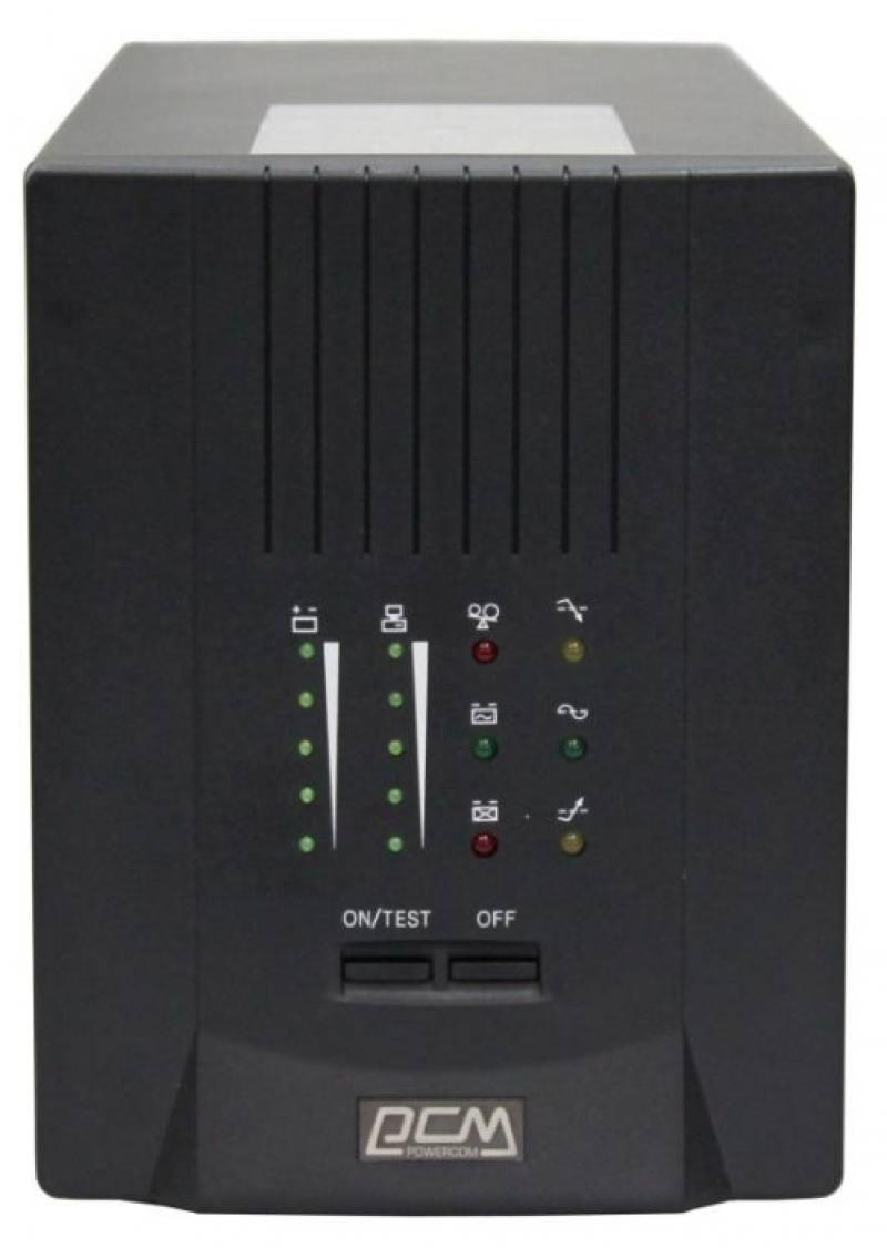 ИБП Powercom Smart King Pro+ SPT-700 490Вт 700ВА черный ибп powercom king pro kin 1200ap rm2u