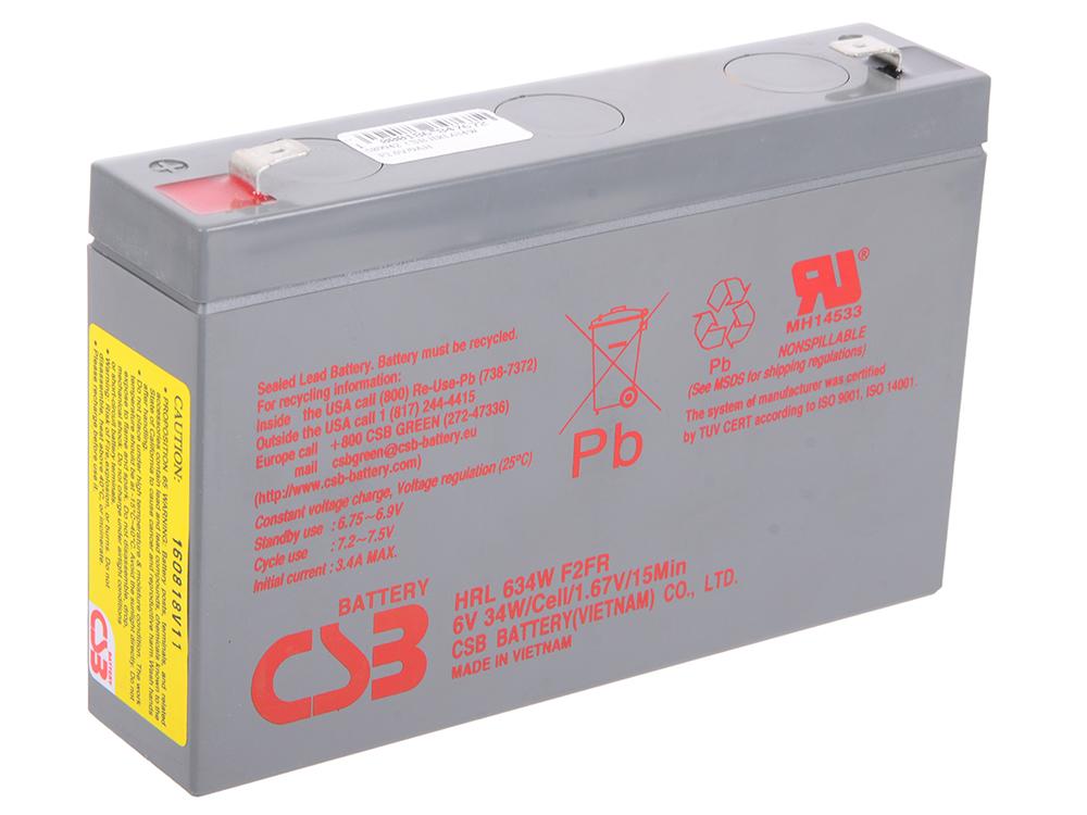 Батарея CSB HRL634W F2 6V/9AH батарея csb hrl634w f2 6v 9ah