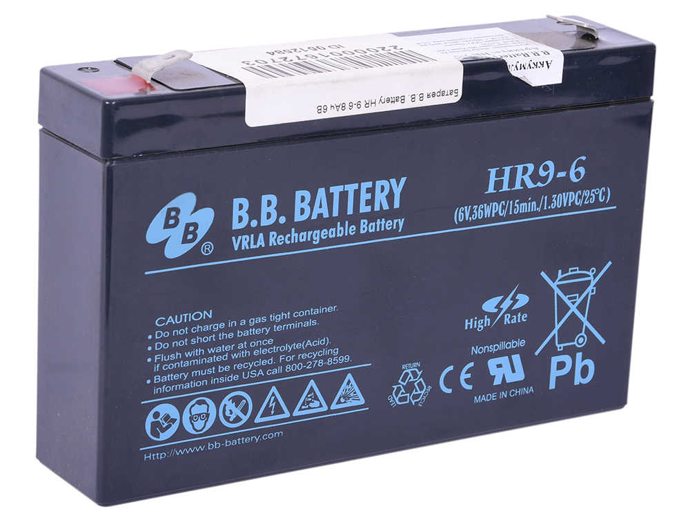 Батарея B.B. Battery HR 9-6 8Ач 6B origianl clevo 6 87 n350s 4d7 6 87 n350s 4d8 n350bat 6 n350bat 9 laptop battery