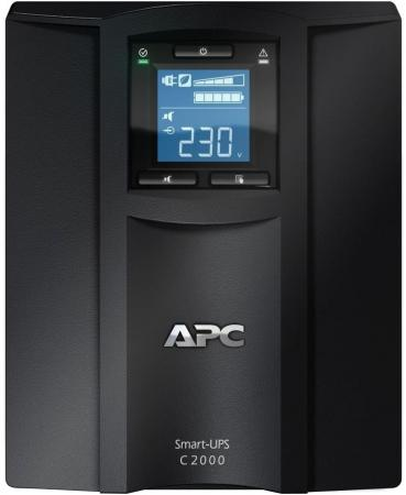 ИБП APC Smart-UPS C SMC2000I-RS 1300Вт 2000ВА черный ибп apc by schneider electric smart ups c 2000 smc2000i 2u