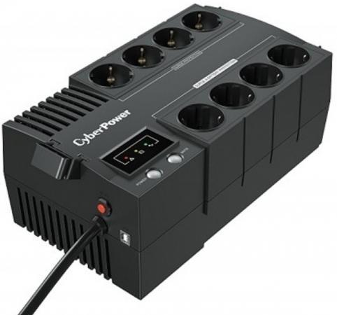 цены ИБП CyberPower Line-Interactive BS650E 650VA/390W 8 Schuko розеток, USB, Black