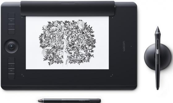 Графический планшет Wacom Intuos Pro Medium Paper PTH-660P-R графический планшет wacom intuos pro medium pth 660 r corel painter 2016