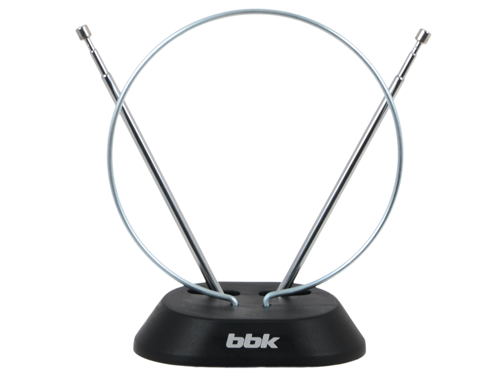 Телевизионная антенна BBK DA01 Комнатная цифровая DVB-T антенна, черный тв антенна bbk da 20 чёрная