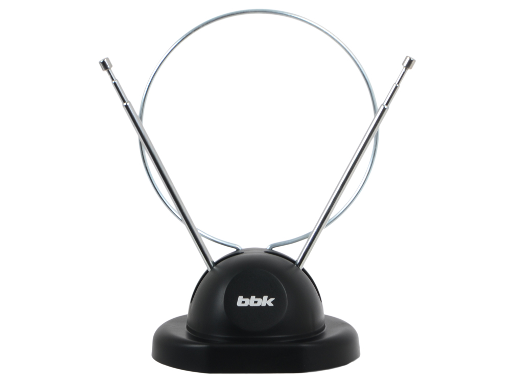 Телевизионная антенна BBK DA02 Комнатная цифровая DVB-T антенна, черный тв антенна bbk da 20 чёрная
