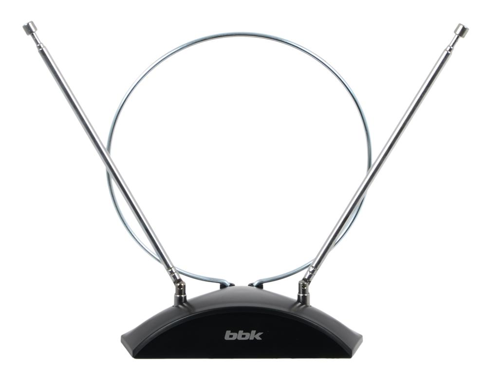 Телевизионная антенна BBK DA03 Комнатная цифровая DVB-T антенна, черный тв антенна bbk da 20 чёрная