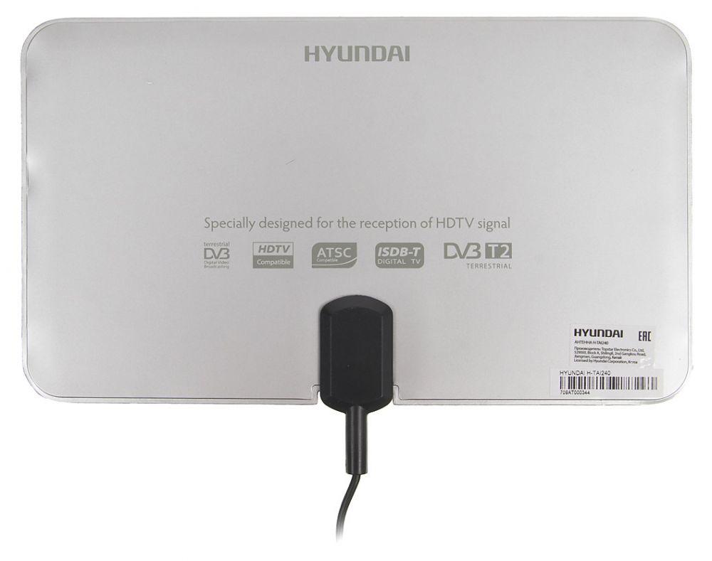 Антенна Hyundai H-TAI240 Комнатная антенна, VHF 87.5-230 МГц, UHF 470-862 МГц, 30dBi