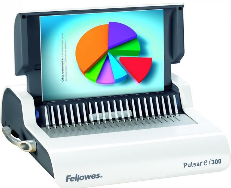Переплетчик Fellowes PULSAR-E 300 A4 перфорирует 15 листов сшивает 300 листов пластиковые пружины 6-