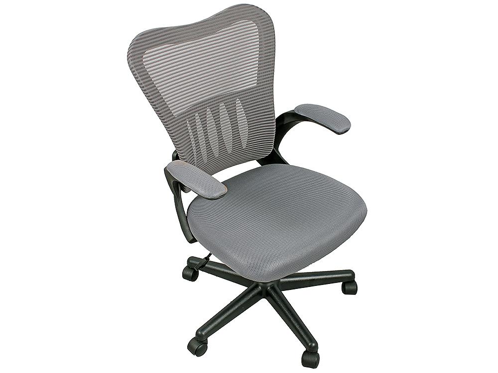 Кресло офисное College HLC-0658F серый ткань, сетчатый акрил, 120 кг, крестовина и подлокотники черный пластик цена
