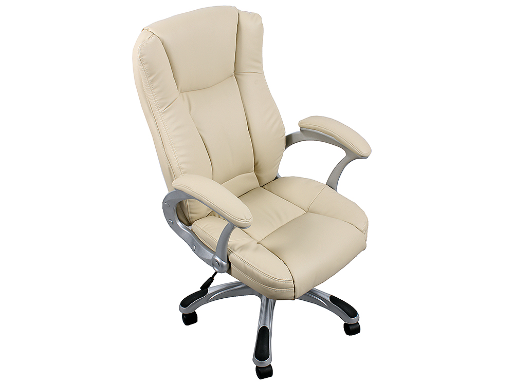 купить Кресло руководителя COLLEGE HLC-0631-1, бежевый, экокожа, 120 кг, подлокотники пластик/кожа, крестовина пластик с вставками, (ШxГxВ), см 66x69x103-113 онлайн