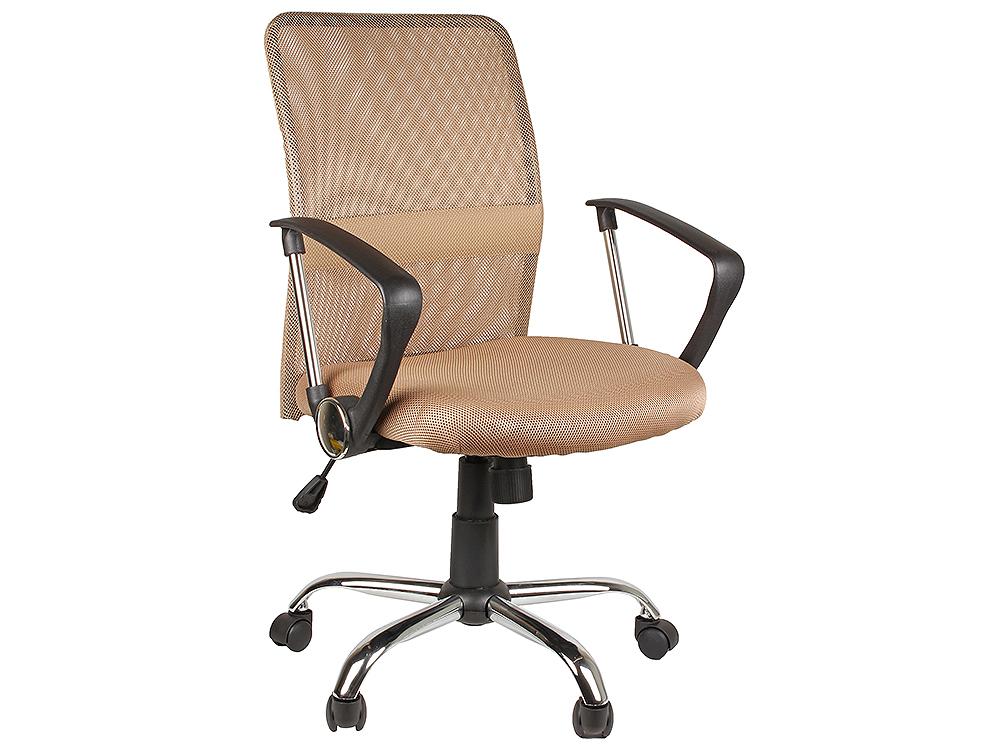 Кресло офисное COLLEGE H-8078F-5 Бежевый, ткань, сетчатый акрил, 120 кг, крестовина хром/металл, подлокотники пластик. (ШxГxВ), см 58x58x92-102 цена