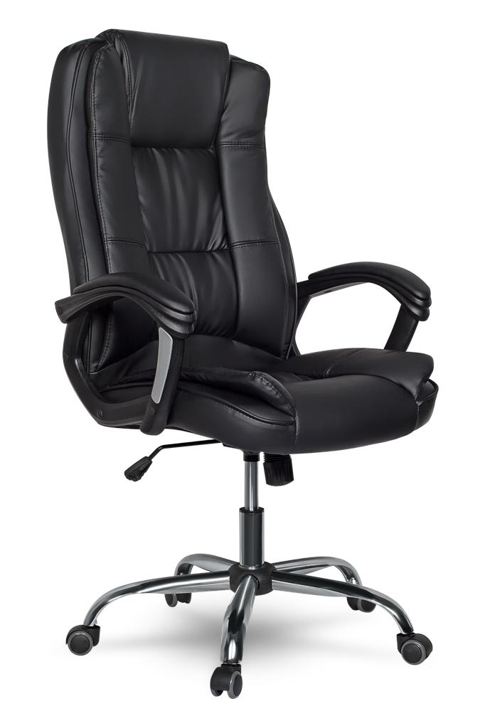 Кресло College CLG-616 LXH Black(XH-2222) экокожа, кожа с полиурет.покрытием, спинка 71см кресло руководителя college clg 620 lxh a xh 632alx экокожа черный