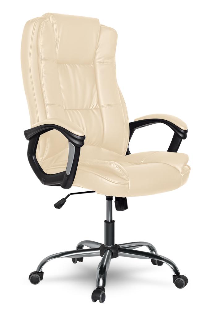 Кресло руководителя COLLEGE CLG-616 LXH Beige(XH-2222)Бежевая экокожа, кожа с полиурет.покрытием, спинка 71см, крест/хром, ВШГ 35-45/52/51, 120кг кресло компьютерное college college xh 2002 beige