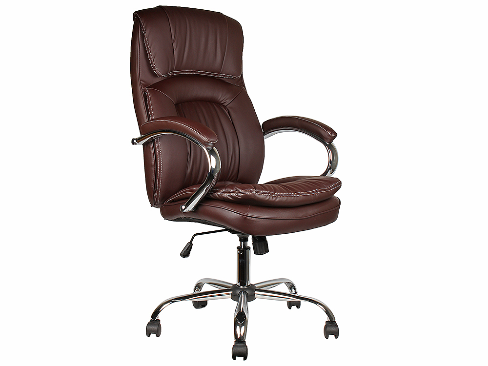 Кресло College BX-3001-1 Коричневое Экокожа, 120 кг кресло руководителя college bx 3233 3323 экокожа коричневый
