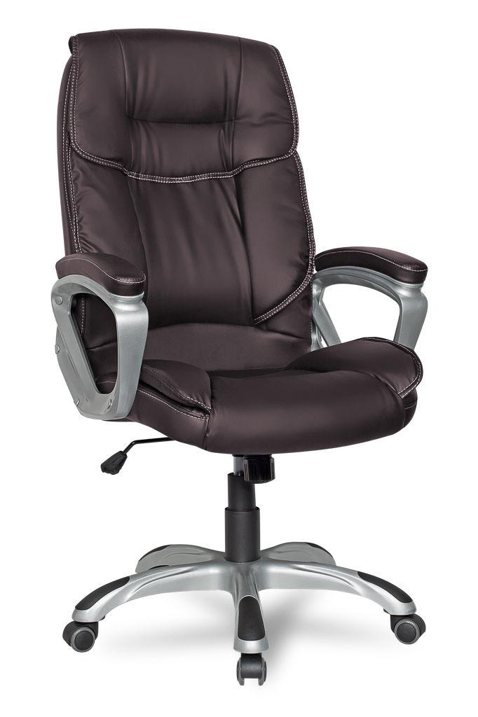 Кресло руководителя COLLEGE CLG-615 LXH Brown(XH-2002)Коричневая экокожа, 120 кг,крест.пластик,подлокот.пластик с кож.накладками,ШxГxВ см53х53х109-119 кресло руководителя college clg 620 lxh a xh 632alx экокожа черный