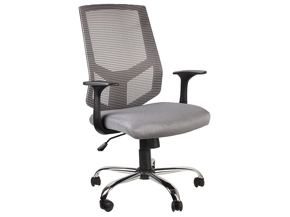 цена на Кресло офисное COLLEGE HLC-1500F-1C Серый, сетчатый акрил,120 кг, крестовина хром,твердые подлокотники,высота спинки 42см, (ШxГxВ), см 66x59x98-108
