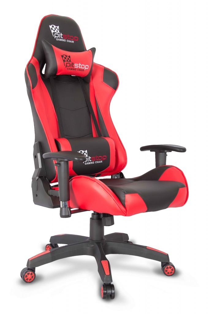 Кресло College CLG-801LXH (XH-8062) Черный/красный цена
